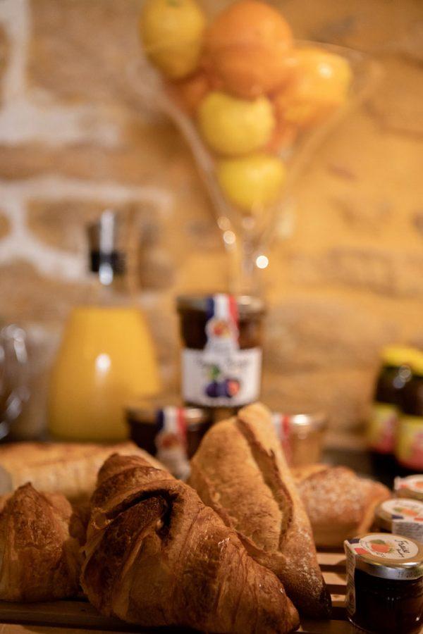 Petit-déjeuner Hôtel des Récollets Sarlat